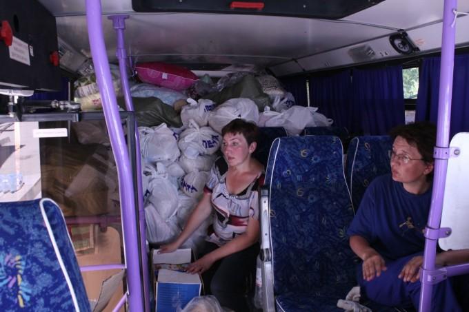 Развозка гуманитарной помощи по адресам