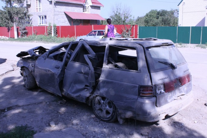 Автомобиль после наводнения