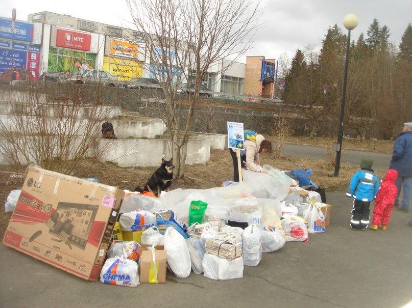 Акция по сбору пластика и макулатуры в Петрозаводске