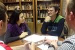 Надежда Бахарева и Юрий Никонов обсуждают методы ведения дневника
